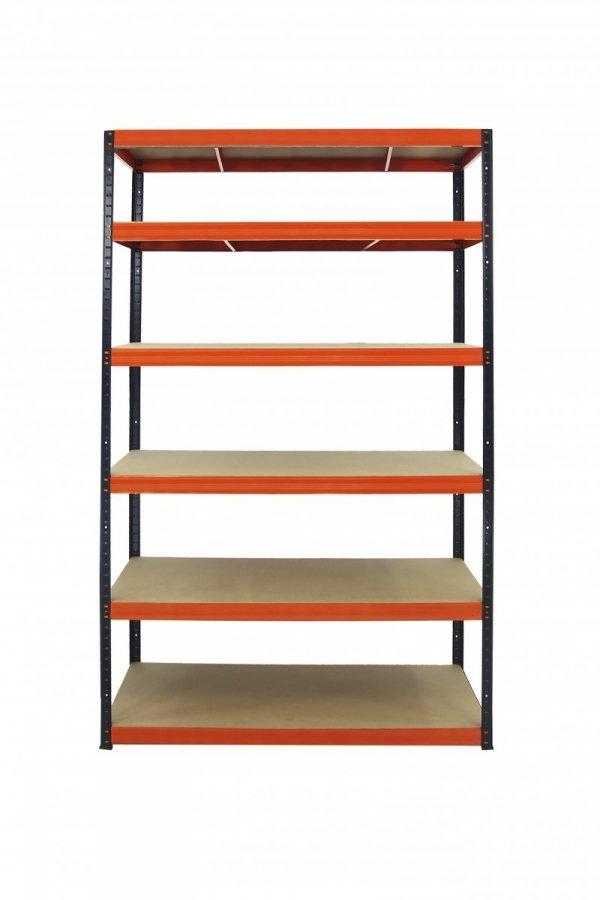 Metallregal Werkstatt Schwerlastregal Helios 213x120x60_6 Böden, Tragkraft bis 400 Kg pro Boden,  Viele Farben zur Auswahl
