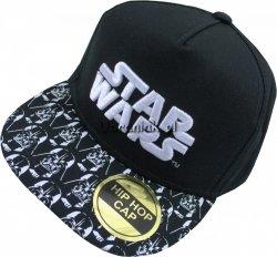 Czapka Bejsbolówka Star Wars z prostym daszkiem czarna
