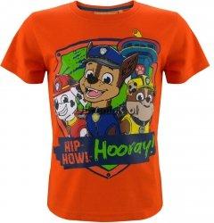 T-shirt Psi Patrol Hooray! pomarańczowy