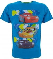 T-shirt Auta Trio niebieska