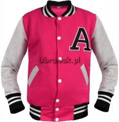 Bluza Bejsbolówka z literą A Różowa