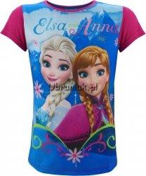 Bluzka Kraina Lodu z Anną i Elsą różowa