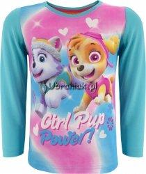 Bluzka Psi Patrol dla dziewczynki niebieska