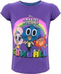 T-shirt Gumball dla dziewczynki fiolet