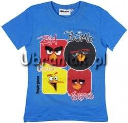 T-shirt Angry Birds Movie niebieski