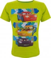 T-shirt Auta Trio zielona