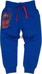 Spodnie Spiderman niebieskie ze sznurkami