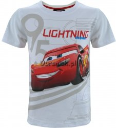 T-shirt Auta LIGHTNING biały