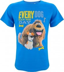 T-shirt Sekretne życie Max i Duke niebieska