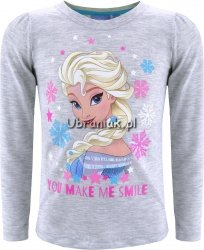 Bluzka Elsa w kolorowych płatkach szara