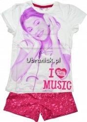 Piżama Violetta krótki rękaw biała