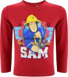 Bluzka Strażak Sam z wężem pożarniczym czerwona