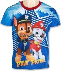 T-shirt Psi Patrol Chase i Marshall czerwony