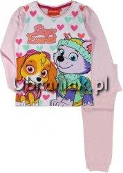 Piżama Psi Patrol dla dziewczynki różowa