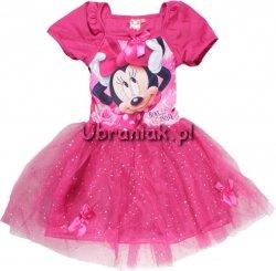 Sukienka Myszka Minnie tiul różowa