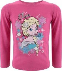 Bluzka Elsa w płatkach śniegu różowa
