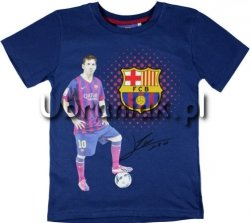 T-shirt FC Barcelona Autograf Leo Messi granat