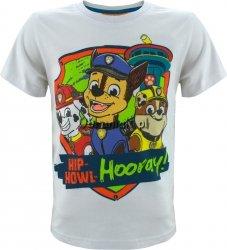 T-shirt Psi Patrol Hooray! biały