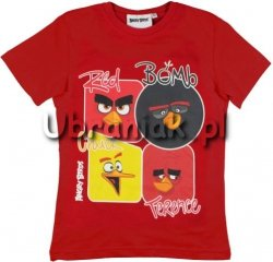 T-shirt Angry Birds Movie czerwony