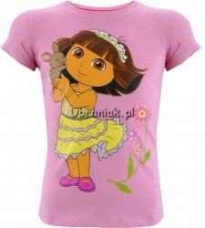 T-shirt Dora z królikiem jasno różowy