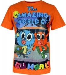 Koszulka ŚWIAT GUMBALLA pomarańczowa