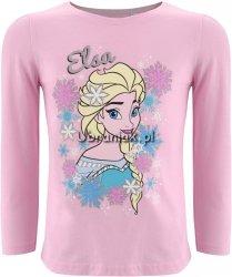 Bluzka Elsa w płatkach śniegu jasno różowa