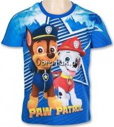 T-shirt Psi Patrol Chase i Marshall niebieski
