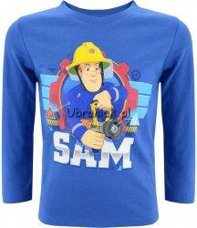 Bluzka Strażak Sam z wężem pożarniczym niebieska