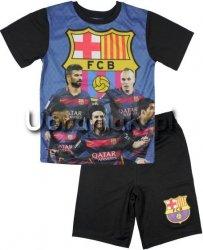 Komplet sportowy FC Barcelona z gwiazdami czarny