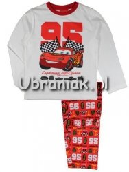 Piżama Auta Cars 95 czerwona