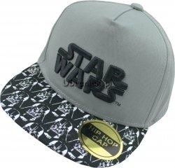 Czapka Bejsbolówka Star Wars z prostym daszkiem szara