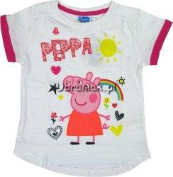 Bluzeczka Świnka Peppa biała
