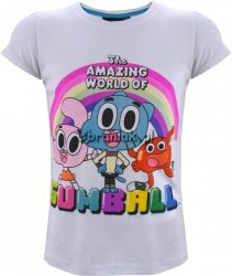 T-shirt Gumball dla dziewczynki biały