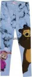 Ocieplane legginsy Masza i Niedźwiedz