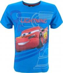 T-shirt Auta LIGHTNING niebieski