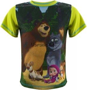 T-shirt Masza i Niedźwiedź dla Chłopca zielony