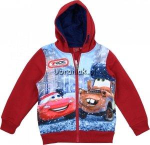 Bluza z kapturem Auta czerwona