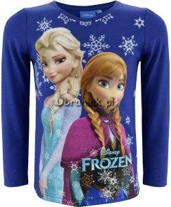 Bluzka Frozen Elsa i Anna granat