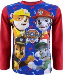 Bluzka Psi Patrol Super czwórka czerwona