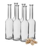 Butelka na nalewkę 200 ml 6 szt.+ 6 korków