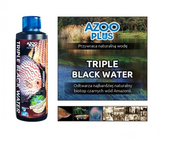 AZOO PLUS Triple Black Water 120ml czarne wody HIT!
