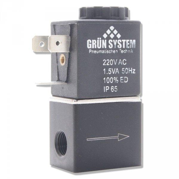 """Elektrozawór GRUN SYSTEM 230V 1/8"""" + przewód i wtyczka nr. 1"""