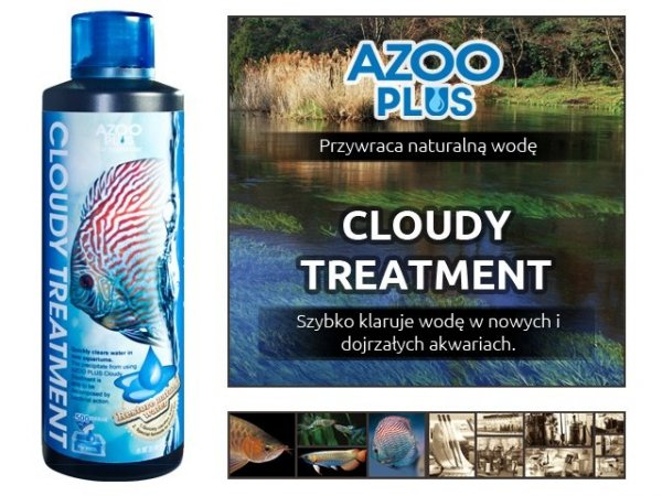 AZOO PLUS CLOUDY TREATMENT 250ml woda kryształ HIT