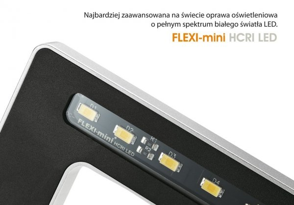 FLEXI mini SREBRNA stylowa oprawa LED do nano akwariów