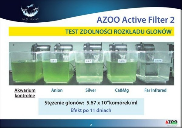 AZOO ACTIVE FILTER Far Infrared Rays 0.5L(drobny) woda kryształ