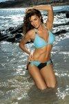 Dámské plavky Marko Roxie Nero + Fata M-326 světle modro-černé
