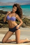 Dámské plavky Marko Tiffany Harmony-Blueberry M-319 levandulovo-tmavo modré