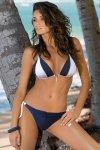 Dámské plavky Marko Amber Uniform-Bianco M-260 Tmavě modré s bílou
