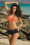 Dámské plavky Marko Tiffany Granatina-Titanium M-319 mandarinkovo-šedé