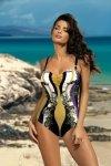 Dámské plavky Marko Miriam Nero-Rododendro M-329 černo-zlato-fialové